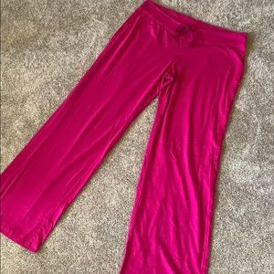 Hot pink lounge pants
